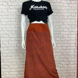 Vintage animal print skirt